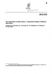 WIPO Study on Copyright in Video Games