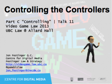 "Week 11 – 11/20/13: ""Controlling the Controllers"" & Sheridan Scott"
