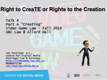 "Week 4 – 9/24/14: ""Right to CreaTE or Rights to the Creation"" & Ian Verchere"