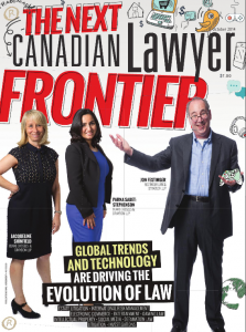 """""""The Next Frontier"""" – Canadian Lawyer, October 2014"""