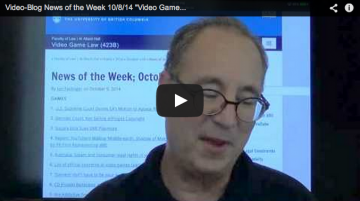 Video-Blog News of the Week; October 8, 2014