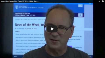 Video-Blog News of the Week; October 15, 2014