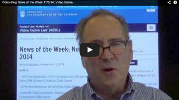 Video-Blog News of the Week; November 5, 2014