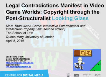 Legal Contradictions Manifest in Video Game Worlds: Copyright through the Post-Structuralist Looking Glass