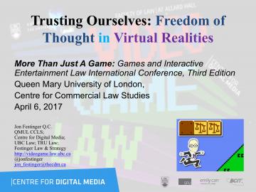 Trusting Ourselves: Freedom of Thought in Virtual Realities