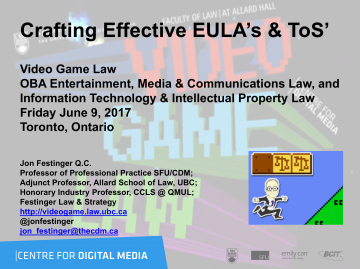 Crafting Effective EULA's & ToS'