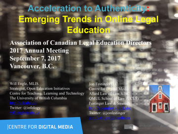 Acceleration to Authenticity: Emerging Trends in Online Legal Education