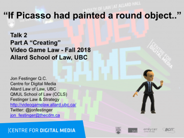 """Class 2 – 9/12/18; """"If Picasso had painted a round object…"""""""