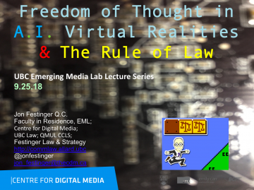 Video & Slides from talk at the Emerging Media Lab Lecture Series