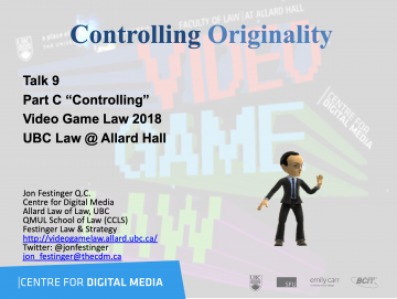 """Class 9 – 11/7/18; """"Controlling Originality"""" + """"Gamify Everything"""""""