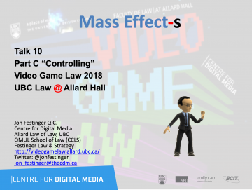 """Class 10 – 11/14/18; """"Mass Effect-s"""" + """"Mobile Gaming: The 'Freemium' Model & The Law"""""""