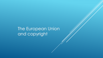 """Class 11 – 11/21/18; """"Controlling the Controllers: Privacy & Cultures"""" + """"The European Union and copyright"""""""