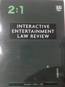 Interactive Entertainment Law Review 2:1