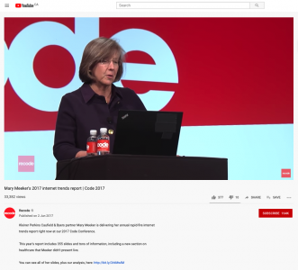 Video & Slides of Mary Meeker's 2017 Internet Trends Report