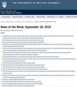 News of the Week; September 18, 2019