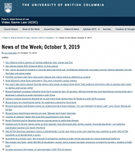 News of the Week; October 9, 2019