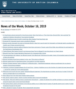 News of the Week; October 16, 2019