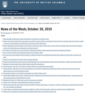 News of the Week; October 30, 2019