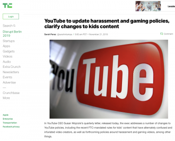 Implications of Forthcoming YouTube Policy Updates on Gaming Content
