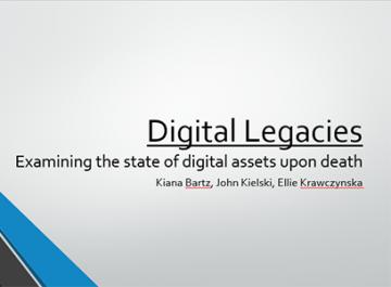 Presentation Outline: Digital Legacies – Examining the State of Digital Assets Upon Death