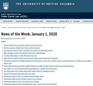 News of the Week; January 1, 2020
