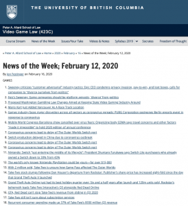 News of the Week; February 12, 2020