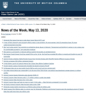 News of the Week; May 13, 2020