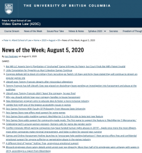 News of the Week; August 5, 2020