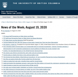 News of the Week; August 19, 2020