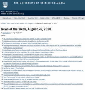 News of the Week; August 26, 2020