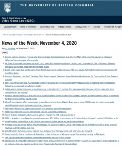 News of the Week; November 4, 2020