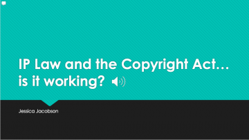 Current Copyright Law … Is It Working?