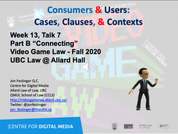 """Class 12 – Week of 11.30.20 Audio Slides """" Consumers & Users: Cases, Clauses, & Contexts"""""""