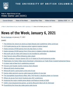 News of the Week; January 6, 2021