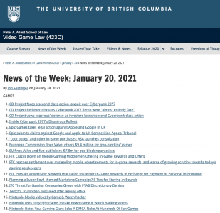 News of the Week; January 20, 2021