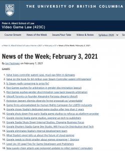 News of the Week; February 3, 2021