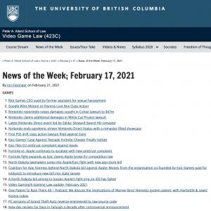 News of the Week; February 17, 2021