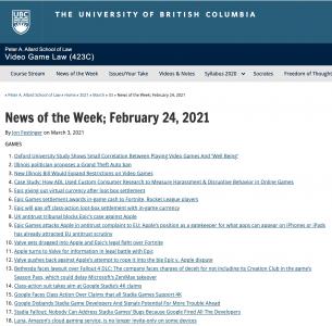 News of the Week; February 24, 2021