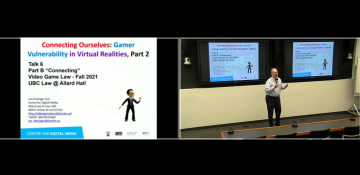 """Class 6 – 10.13.21; """"Connecting Ourselves: Gamer Vulnerability in Virtual Realities, Part 2"""""""